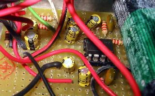 オペアンプ配線の写真
