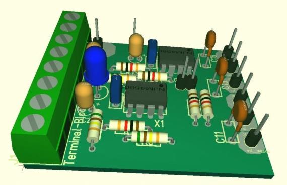 プリアンプ基板3D表示