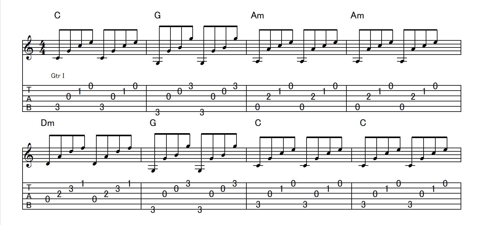 7.コードを弾いてみよう(アルペジオ編)