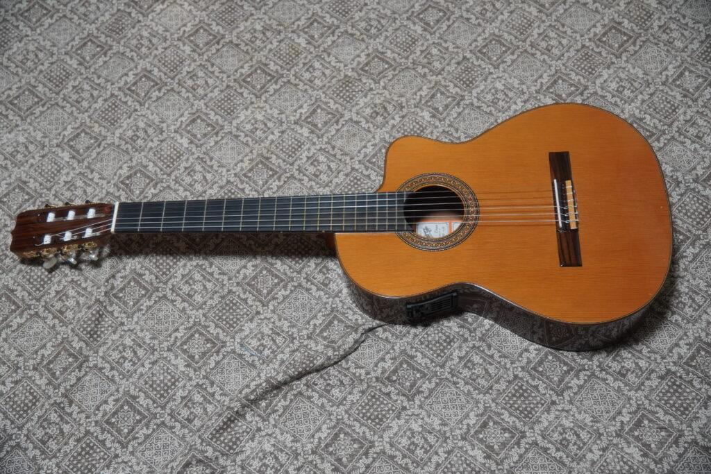 エレガットギター Jose Ramirez / ホセ・ラミレス R1CWE 改造と修理