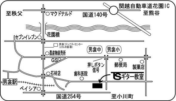 TSギター教室の地図